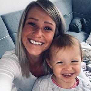 Sarah Blach mit Tochter